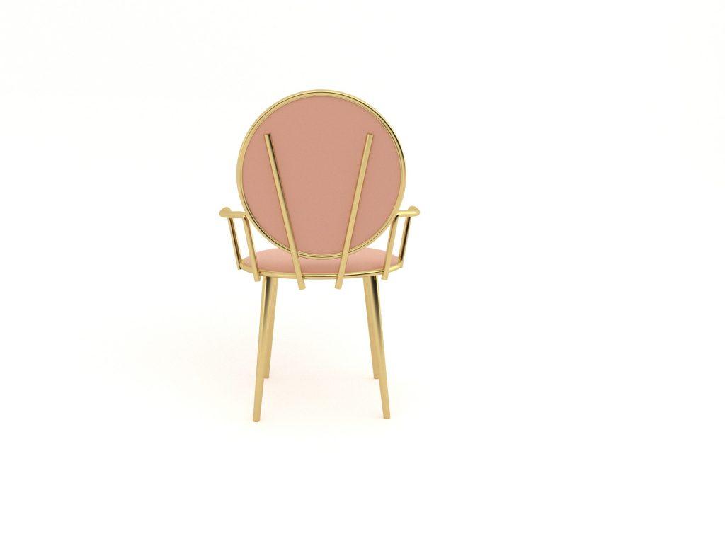 Pem gold metal sandalye tasarımı