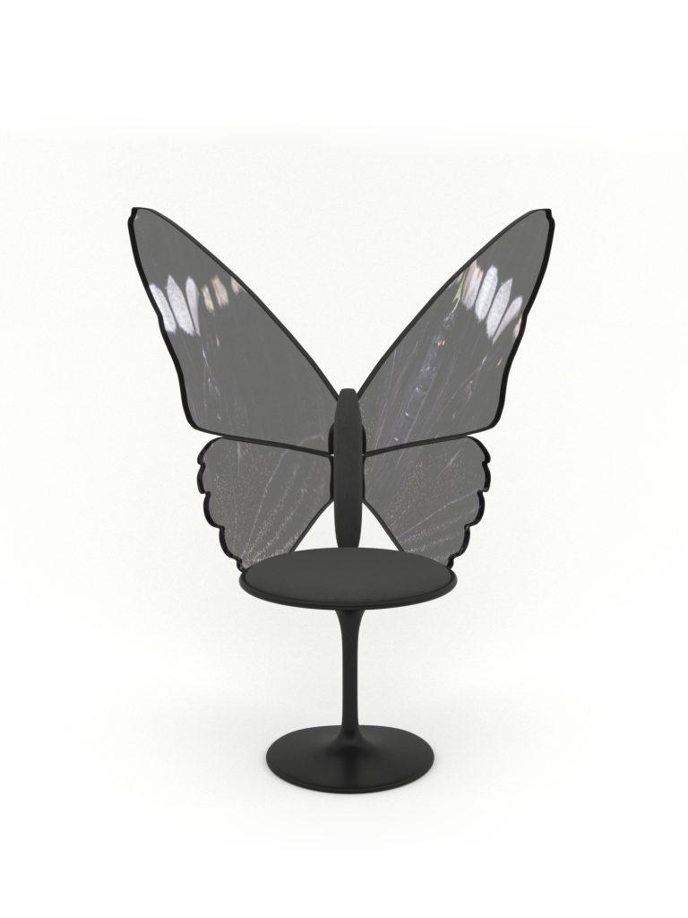 fairy gold sandalye siyah